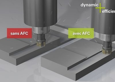 Option Dynamic Efficiency - AFC - Réduction des temps d'usinage grâce à la fonction AFC
