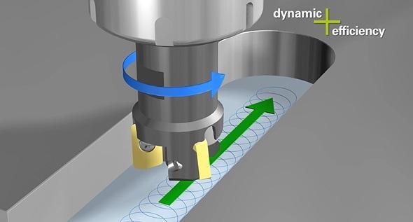 Fraisage en tourbillon avec commande numérique Heidenhain - option Dynamic Efficiency