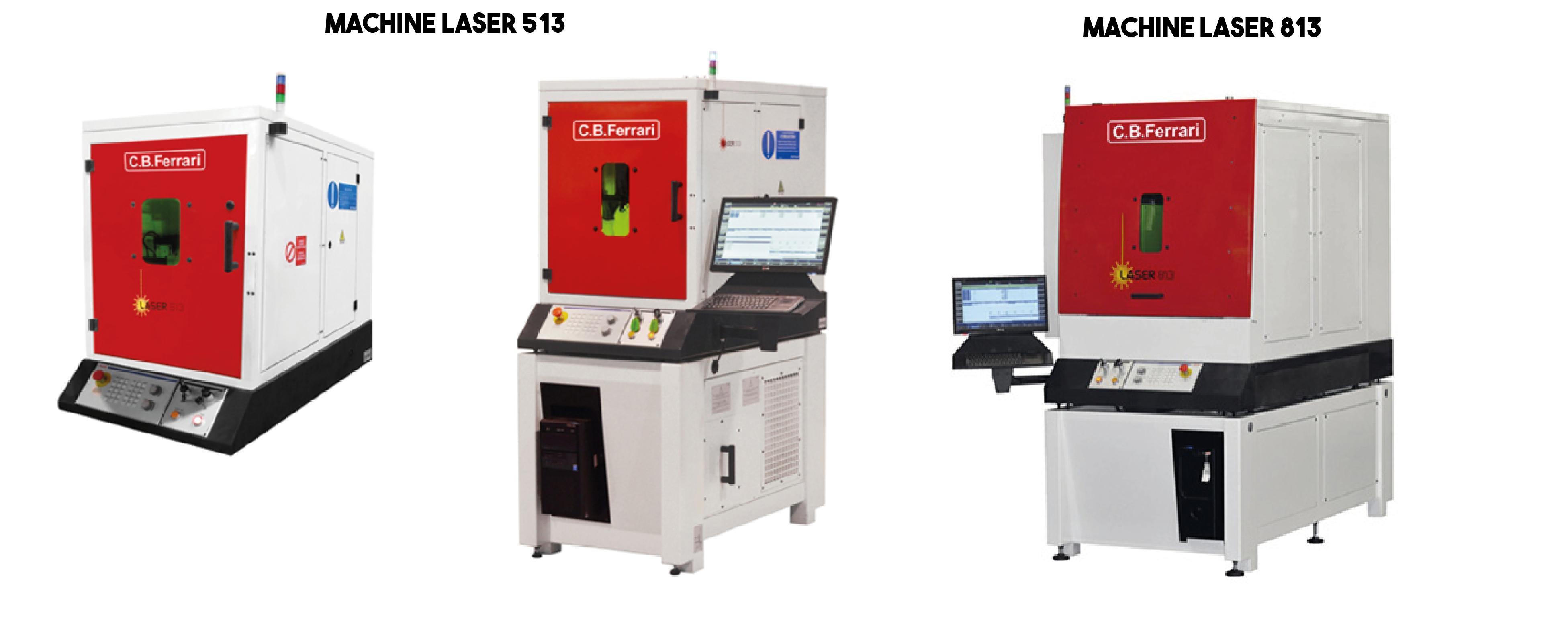 Machine laser 513, 813