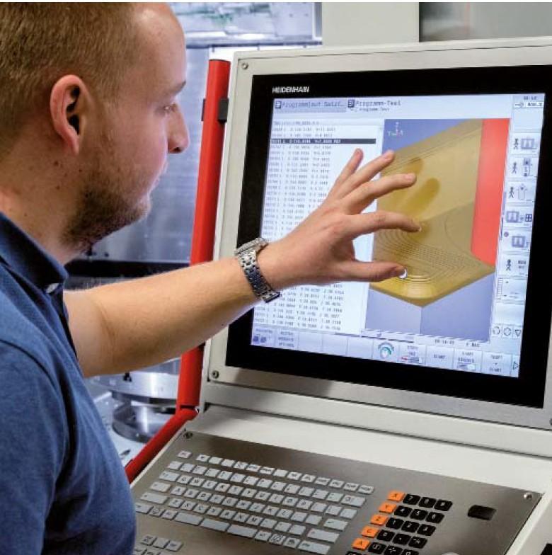 Facilité éd'utilisation accrue l'écran tactile de la TNC640 HEIDENHAIN