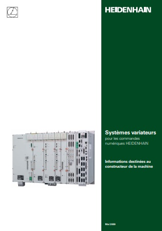 Catalogue des systèmes variateurs pour commande numérique Heidenhain