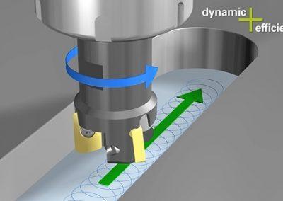 Option Dynamic Efficiency - Fraisage en tourbillon avec commande numérique Heidenhain