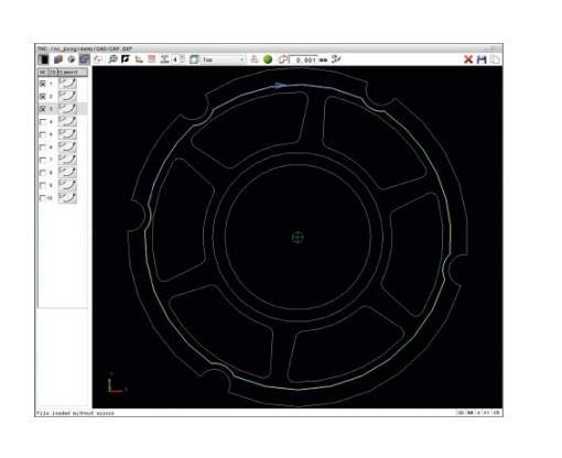 Sélection des couches et des contours sur fichier DXF depuis la commande numérique iTNC. via l'option 42 Convertisseur de fichier DXF sur CN Heidenhain