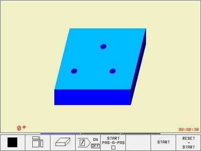 graphique simple 2D, 3 plans, 3D, cn heidenhain